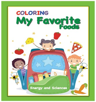 Coloring My Favorite Foods - 10 Coloring Pages
