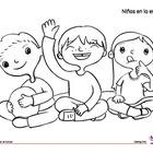 Coloring Page: Back to School: Circle Time