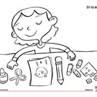 Coloring Page: Back to School: My Supplies