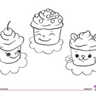 Coloring Page: Cupcakes (Food Theme)