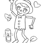 Coloring Page: Día de los Muertos: Day of the Dead: Danci