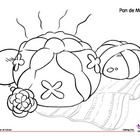 Coloring Page: Día de los Muertos: Day of the Dead: Pan de
