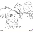 Coloring Page - Farm Animals