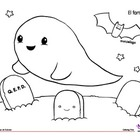 Coloring Page: Halloween: El fantasma