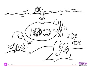 Coloring Page: Transportation Theme: Submarine