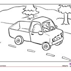 Coloring Page: Transportation: Truck