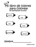 Coloring book of colors