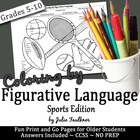 Coloring by Figurative Language Sports-Themed {FREEBIE}