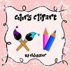 Colors Clipart- Paintbrushes and Colored Pencils