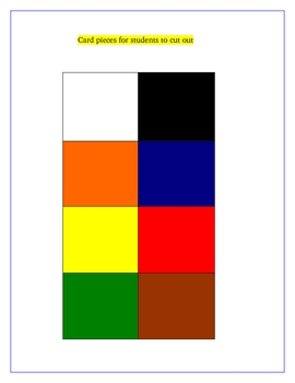 Colors, Los Colores Spanish Game Board Activity Fun for Review!