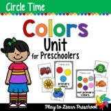Colors - Rainbow Centers and Circle Time Preschool Unit