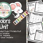 Colors Unit - Perfect Theme Unit for Preschool, Kindergart