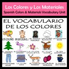 Colors and Materials Vocabulary Activities & Games Unit in