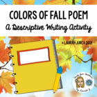 Colors of Fall Poem Activity
