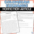 Columbian Exchange: Old World & New World
