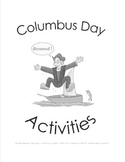 Columbus Day Activities: K-1st-2nd