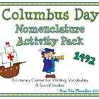 Columbus Day Nomenclature 3–Part Vocabulary Cards Activity Pack