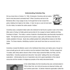 Columbus Day Reading Vocabulary Activities Middle School