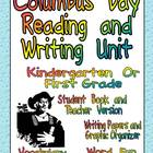 Columbus Day Reading and Writing Unit for Kindergarten or