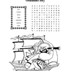 Columbus Day Word Search Puzzle / 1st Grade