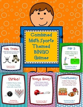 Combined Math Sports Themed BINGO Games