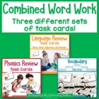 Combined Word Work, Review: Scoot or Task Cards