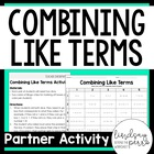 Combining Like Terms Activity