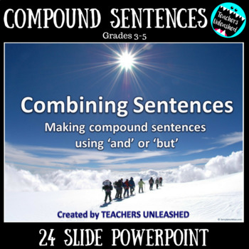 Combining Sentences Using 'and' or 'but' PowerPoint Lesson