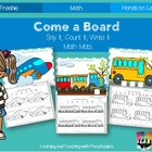 Come a Board Say It, Count It, Write It Math Mats