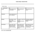 Comic Strip Rubric