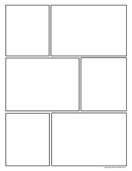 Comic Strip Template Pages for Creative Assignments