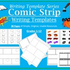 Comic Strip Writing Templates Common Core