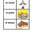 Comida (Food in Spanish) Concentration game