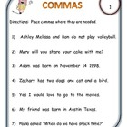 Comma Center Cards