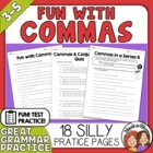 Comma Usage - 18 pages of FUN Worksheets and Quizzes!