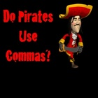 Comma Use Powerpoint lesson and interactive quiz Pirates Theme