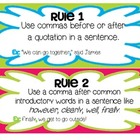 Commas Mini-lesson: Learning the Rules and Practicing
