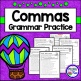 Commas - Set of Grammar Practice Pages for Using Commas