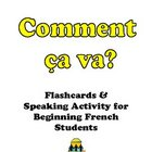 Comment ca va?  Flashcards and Activity for Beginning Fren