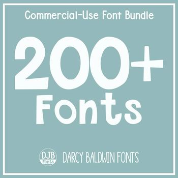 Commercial Font License - ALL THE FONTS