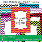 Funky Fat Chevron Page Borders