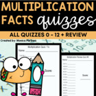 Common Core 1-Minute Multiplication Quizzes 0-12 and Mixed Review