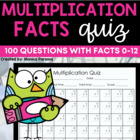 Common Core 100 Question Multiplication Quiz