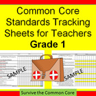 Tracking Sheets (EDITABLE) Common Core 1st Grade Math by D