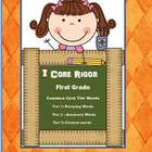 Common Core 1st Grade  Tier 1, 2, and 3 Word Wall Cards