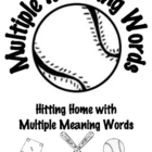 Common Core 2-5 Baseball Themed Multiple Meaning Word Acti