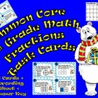 Common Core 3rd Grade-Fractions Task Cards-Number Line, Co
