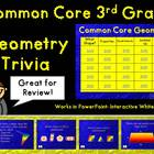 Common Core 3rd Grade-Geometry Trivia Game-Great for Review!