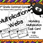 Common Core 3rd Grade-Modeling Multiplication Task Card Ki