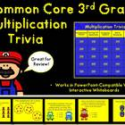 Common Core 3rd Grade- Multiplication TV Trivia PowerPoint Game